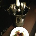 Romance - champagne and strawberries!