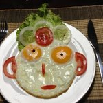 Funny and yummy breakfast
