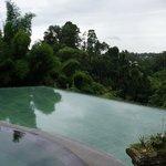 Вид на бассейн и из него
