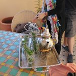 They welcomed us with Mint Tea