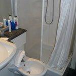 Dusche, WC, BD