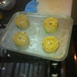 Pork pies ready for the oven