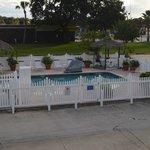 Pool as seen from 2nd floor room.