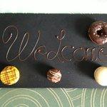 welcome sweeties on arrival