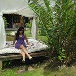 En una cama al aire Libre