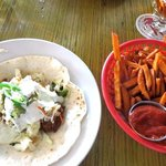 fish taco and sweet fries