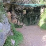 Entrance to cave before tour