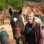 Horseback Riding- This is Cherokee and he is very tame.