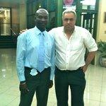 Avec un des gérants du Knutsfort court.