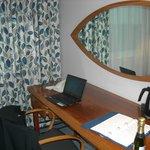 Desk with 'Swedish' decor