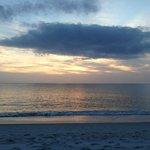 Day 1 sunset on beach