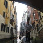 "A ""street"" in Venice with our gondolier."
