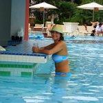 Swim up bar at the Med pool