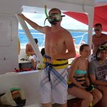 Snorkling on the catamaran cruise