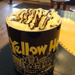 Yellow House hot chocolate uses Ghirardelli syrup.