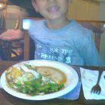 my grandson enjoying his carvery