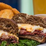 In house cooked corned beef on this reuben!