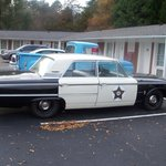 The squadcar at Mayberry Motor Inn