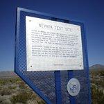 Historical marker at Mercury (NTS)