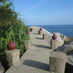 walkway to sea