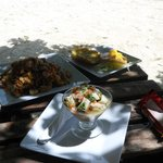 Ceviche and Seafood Risotto (Arroz Caribe)