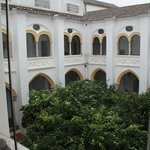 Courtyard adjacent to rooms and dinning area