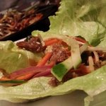 Korean beef lettuce wrap.