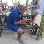 Making Coconut Bracelets