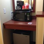 Room 407, amenities.  Microwave, fridge, coffee Canad Inns Destination Center Grand Forks  |  10