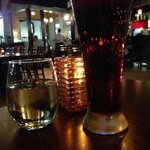 Chardonnay, Sam Adams and a candle to open, 'L Bistro  |  Alerus Center, Grand Forks, ND
