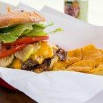 Hearst Ranch double cheeseburger