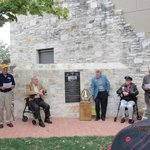 Plaque for DFW area QB WWII vets, 9 are listed on the plaque, 2 surviving members were present.