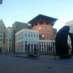 Outside the Denver Art Museum