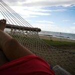 Relax in one of the many hammocks