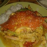 The crab- yellow curry at red hot chilli