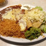 Taco, Enchilada, Flauta Combination