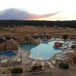 Pool / hot tub facility in fall