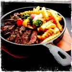Sharky's Skillet Steak and Fries Dinner