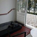 Lone Pine sunken bath on balcony