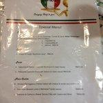 pasta menu reasonably priced
