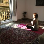 Yoga in the sun at Valencia Mindfulness Retreat B&B