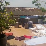 The balcony was used for drying laundry one day :-)