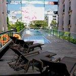 Swimming pool, next to the breakfast corner ( Padi-padi restaurant )