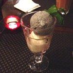 Black sesame seed, coconut ice cream