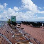 Bilde fra tak terrassen på hotellet.