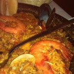 Delicious paella, with plenty of seafood