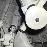 Dr. Ernst Stuhlinger and Dr. Wernher von Braun at the RCAA Observatory in 1956