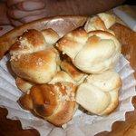 complementary garlic rolls