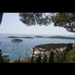 View from the highest point in Hvar