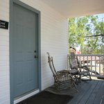 Coral room porch and rocking chairs